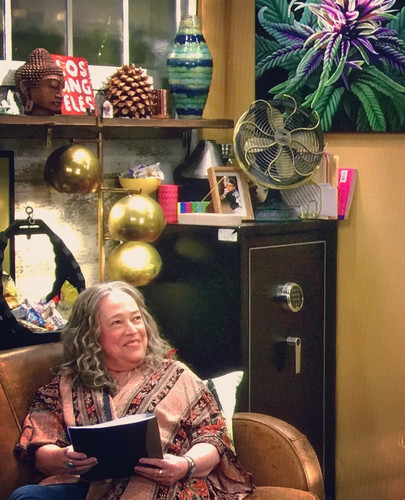 Cannabis painting on set of Disjointed