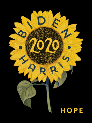 Biden Harris Sunflower HOPE