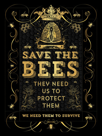 SAVE THE BEES GOLD