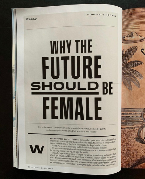 WHY THE FUTURE SHOULD BE FEMALE