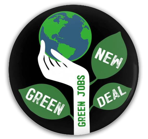 Green Jobs Button by Brooke Fischer