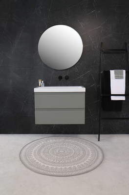 Roots blank hvid 80 cm - møbel mat beton grøn