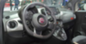 Fiat 500S dashboard at the 2016 Geneva M