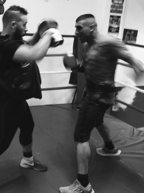 Preparazione palestra boxe