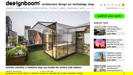 "Article with ""Minima Moralia"" in designboom"