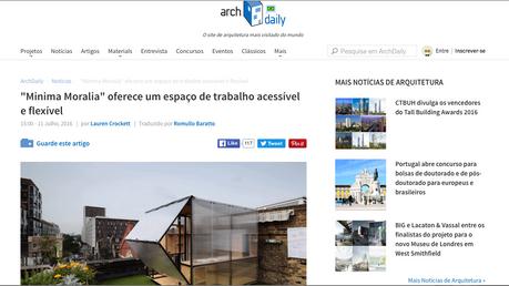Minima Moralia in ArchDaily Brasil !