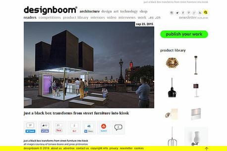 """JUST A BLACK BOX"" featured on Designboom"
