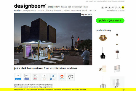 """JUST A BLACK BOX"" featured on Designboom"