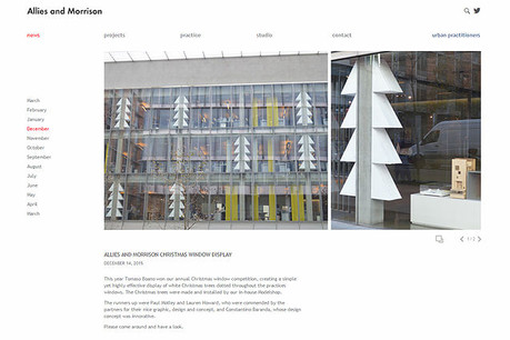 """""""TREES"""" a xmas installation for Allies and Morrison"""