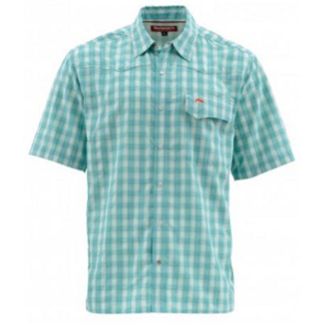 Simms Big Sky SS Shirt Harbour Blue Plaid - Men's