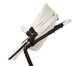 Ella Baby|Elite Stroller|Leather Stroller|Luxury Stroller|Modern Stroller|Slim Folding Stroller|White Stroller