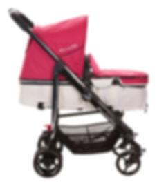 Ella Baby Versa Stroller Pink Reversible Bassinet