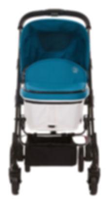 Ella Baby Versa Stroller Teal in Pram Mode