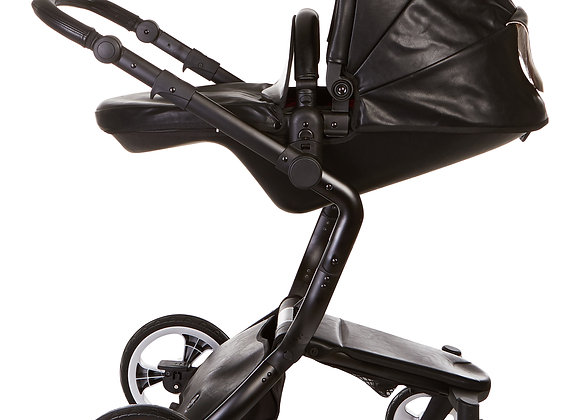 Open Box - Black Elite Leatherette Stroller
