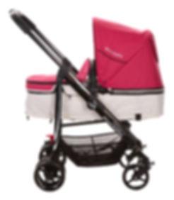 Ella Baby Versa Stroller Pink Bassinet