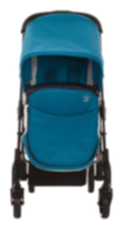 Ella Baby Versa Stroller Teal with Matching Foot Muff