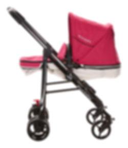 Ella Baby Versa Stroller Pink Child Seat Reclined