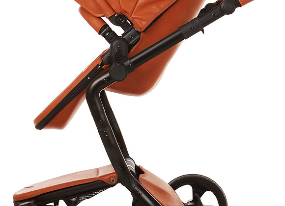 Ella Baby Elite Stroller - Brown Leatherette