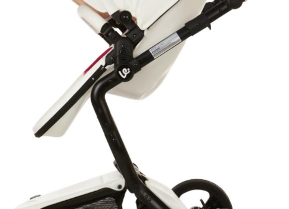 Open Box - White Elite Leatherette Stroller