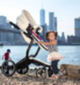 Ella Baby|Elite Stroller|Leather Stroller