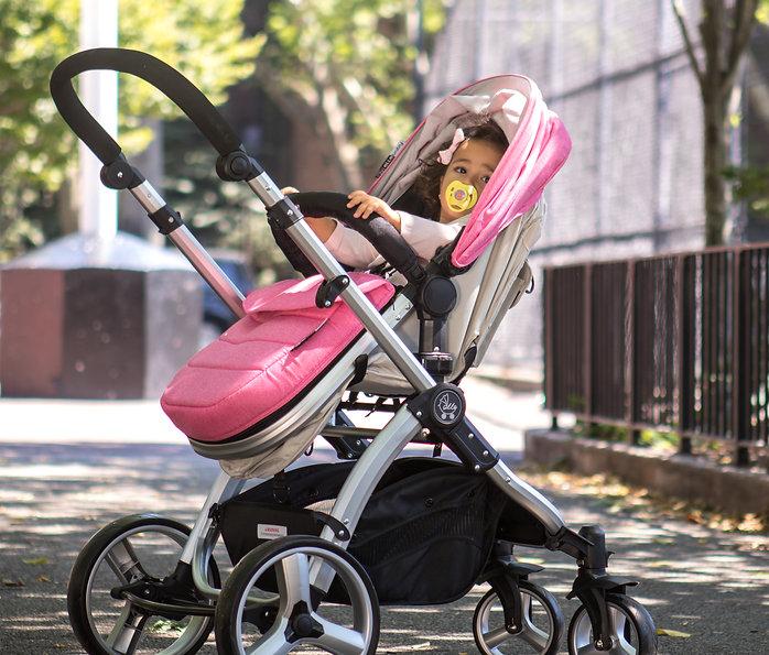 Convertible Stroller|Pram Stroller|Newborn|Toddler|Pink|Ella Baby Stroller