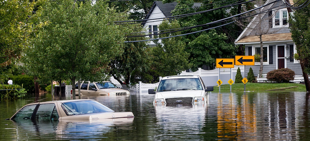 Flooded vehicles in USA