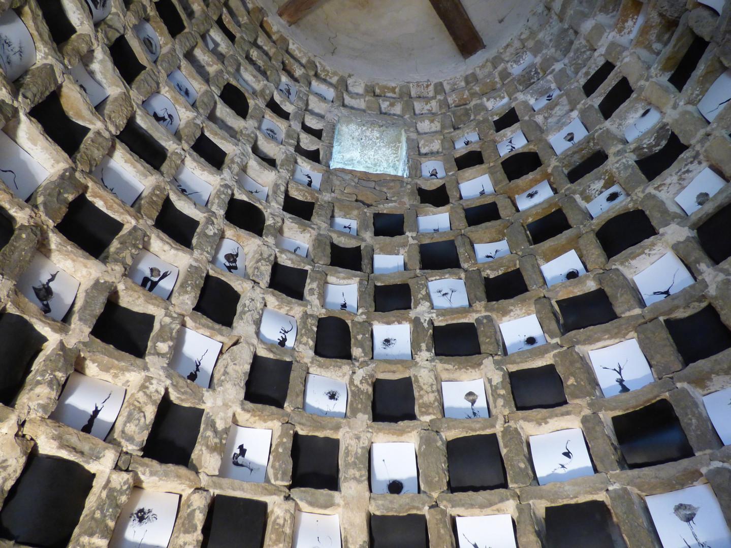 Installation dans le pigeonnier historique de la Maison de la Hte Seille