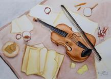 Aquarela Violino