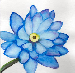 Aquarela Flor Azul
