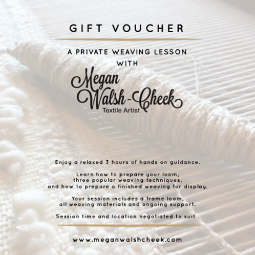 DIGITAL GIFT VOUCHER: Private Weaving Lesson