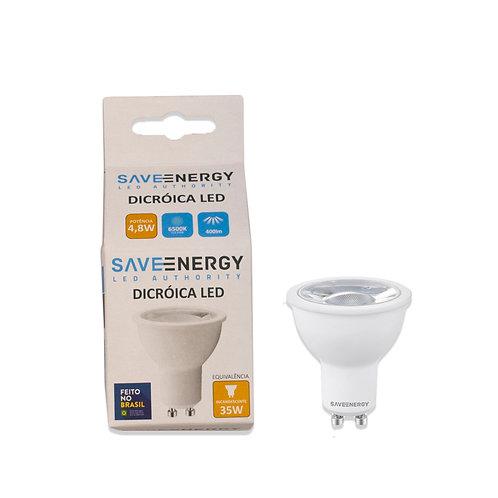 Dicroica Save Energy 4,8W 6000k 400 Lum. Branca Bivolt