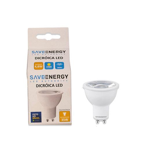 Dicroica Save Energy 4,8W 2700k 360 Lum. Bivolt Amarela