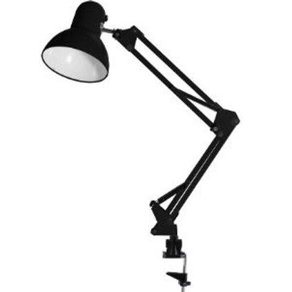 Luminária de Mesa Articulada c/ Garra 1L E-27 Preta