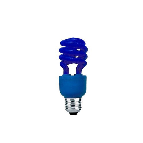 Espiral Fluorescente Compacta E-27 15W Azul