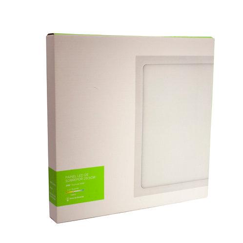 Painel LED Brilia 29,5x29,5 24W 3000k Sobrepor