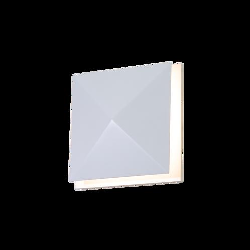 Arandela LED Diamante Facetados Madeira 16x16x5,2 Accord