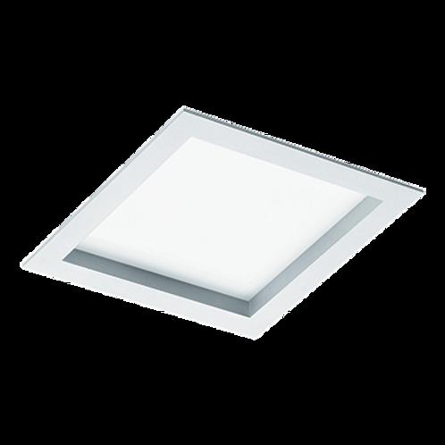 Plafon de embutir quadrada para lâmpadas Bulbo LED, com moldura e corpo