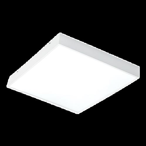 Plafon de sobrepor com visor, compatível com lâmpadas tubulares LED