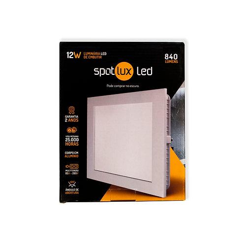 Painel LED SpotLux Embutido Quadrado 12W