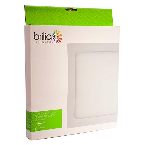 Painel LED Brilia 22,5x22,5 4000k 18W Embutir