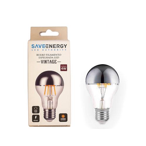 Bulbo Save Energy Defletora 4W 2200k Amarela 300 Lum.