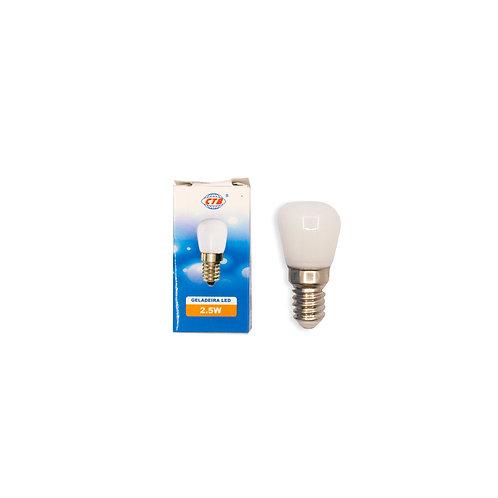 Mini E-14 LED Geladeira/Microondas 2,5W 6500k