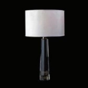 Abajur Classic Cromado e Transparente Metal e Vidro E27 - Bella