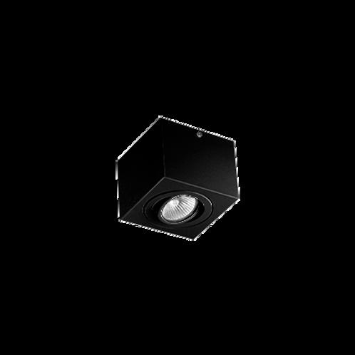 Spot Box de sobrepor com facho orientável para lâmpada Dicróica LED Preto