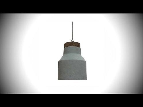 Pendente DUO Concreto, Madeira e Metal E14 40W - Bella