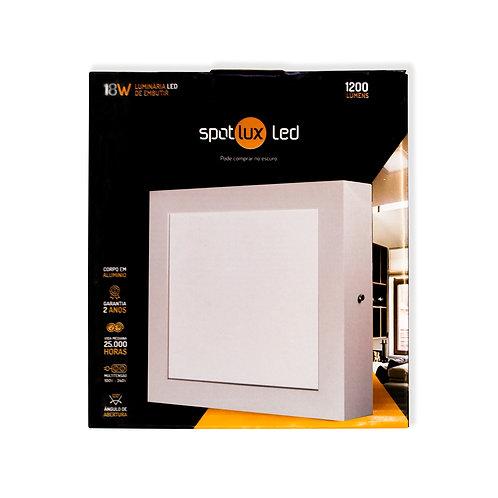 Painel LED SpotLux Sobrepor Quadrado 18W