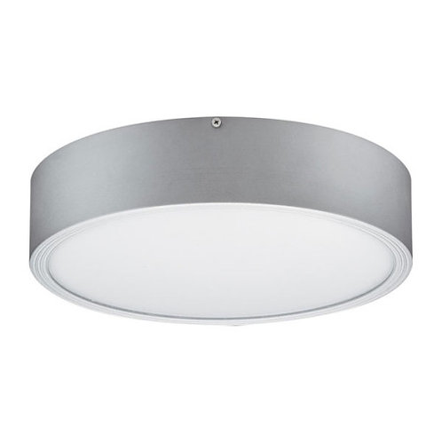 Plafon de sobrepor com visor em acrílico e compatível com lâmpadas fluorescen