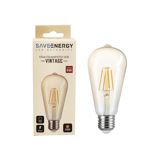 ST64 Vintage Save Energy 4w 2200k ambar biv 300 lumens