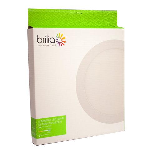 Painel LED Brilia Redondo 22 cm 18W 6500k Embutir
