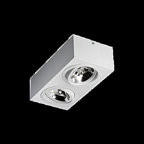 Spot Revoluz de sobrepor com facho orientável AR111 LED 2L Branco